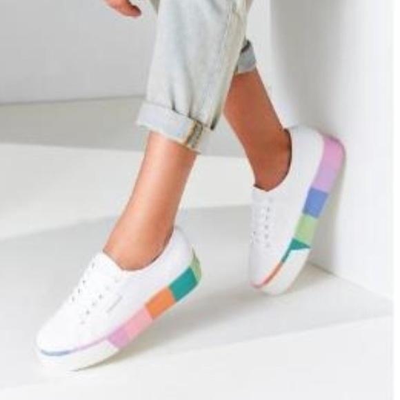 99ff94bdeb2 NWT Superga 2790 Striped Platform Sneaker